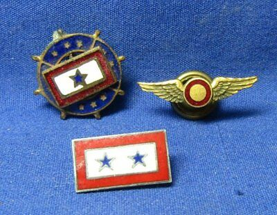 WWII Army Air Forces Observer Wings, ATC Son In Service Home Front Pins Lot Of 3