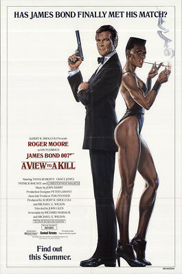A View to a Kill 1985 27x41 Orig Movie Poster FFF-60085 Fine Roger Moore