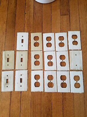 Lot of 17 Vintage Switchplates, White Light Switch Plates Vintage Outlet Covers