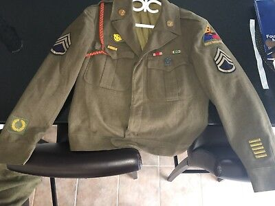 WWII US 2nd Armoured Division Staff Sargent Ike Uniform (1944 dated)
