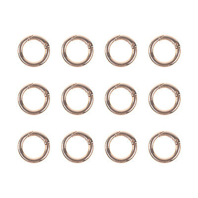 12PCS Zinc Alloy Round Keyring Buckle Spring Clip