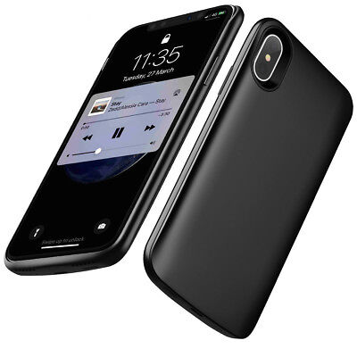 6000mAh iPhone X Portable Battery Rechargeable Charging Power Back up Case Cover