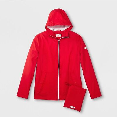 *~*~** NWT HUNTER For Target Adult Unisex Packable Rain Coat XS RED **~*~*