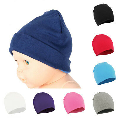 Baby Toddler Boys Girls Winter Warm Hat Beanie Cap Cotton Soft Plain 0-12 Month