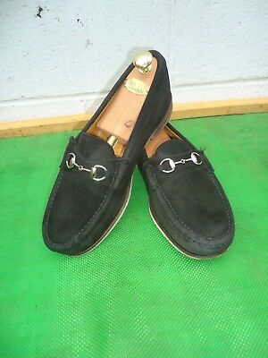 9738db5bd85 Alden Cape Cod Collection Black Suede Leather Horse Bit Loafer Men Shoe  SZ 9.5 E