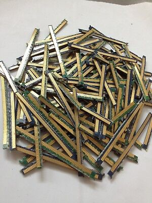 Lot Of 50 Pieces Memory Ram Gold Fingers For Scrap Gold Recovery