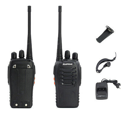 2*Baofeng BF-888S UHF 50Ω CTCSS/CDCSS 5W Dualband Hand-Funkgerät Walkie-Talkie