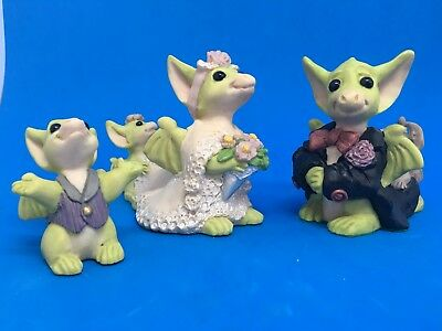 Real Musgrave Pocket dragon Figurines I'll BeThe Bride and Groom & Oh Happy Day