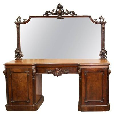 A Mid Victorian Mahogany Mirrored Sideboard