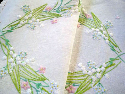 Exquisite Fairistytch~Lily-of-the-Valley~Raised Hand Embroidered Centrepiece/mat