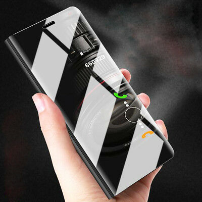 For Huawei P20 Pro Lite P Smart Clear View Luxury Flip Stand Leather Case Covers