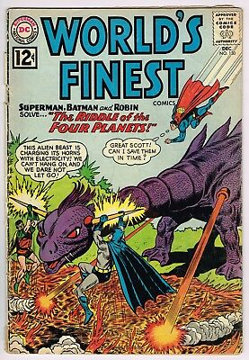 World's Finest Comics #130 - Dc Dec 1962 Comic Book - Batman, Superman, Aquaman!