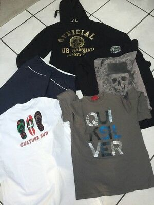 Lot  Garcon 14.ans  Bermuda Fila Sweat Us Marshall Top Quiksilver Culture Sud