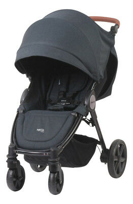 Steelcraft - Agile Elite Pram - Black Linen