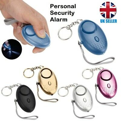 Police Approved Personal Panic Rape Attack Safety Security Alarm Torch 140db