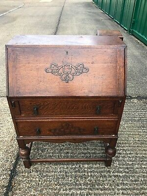 Antique wooden writing desk bureau