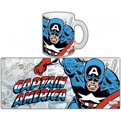 Marvel Retro Captain America Avengers Mug Tasse SEMIC