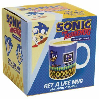 Sonic The Hedgehog Get A Life Ceramic Mug Tasse TIMECITY