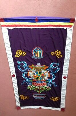 CHINESE WALL HUNG TAPESTRY 183cm x 93cm.