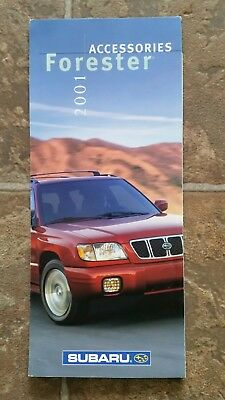2001 Subaru Forester Accessories Pamphlet