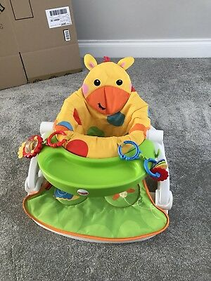 Fisher Price Sit Me Up Giraffe Floor Seat And Tray