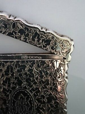George Unite Solid Silver Calling Card