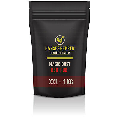 1Kg Magic Dust Rub BBQ Würzig Marinade Gewürz TOP Trockenmarinade-Premium Serie