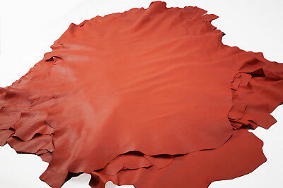 Tangerine Orange sheepskin leather hides/skins Soft CLEARANCE