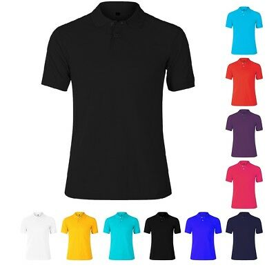 Mens Lightweight Pique Polo T Shirts Size S to XL SPORTS & CASUAL  PK Polo