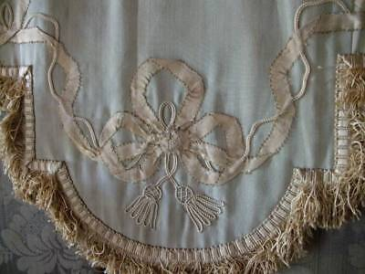 Exquisite French 19th Century Silk Boudour Pelmet Garlands Of Ribbon Bows