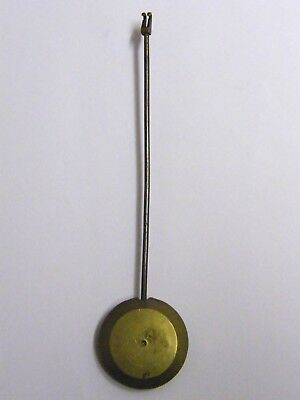 Antique-Victorian-Long Case Clock Brass Pendulum-18.5 cm-4.5 oZ-circa 1860's