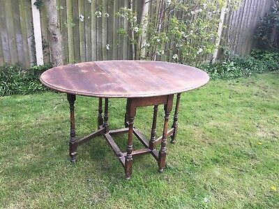 oak gate leg drop leaf table