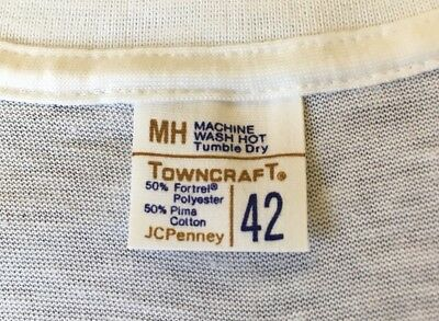 Vtg 70s 80s New Blank Penney's Towncraft 50/50 Pima Cotton Under T Shirt ( S/m