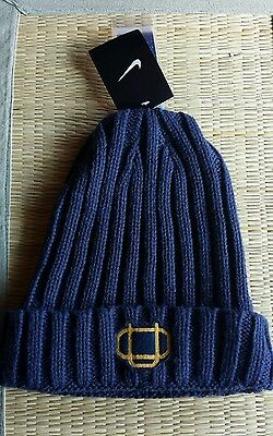 wholesale dealer d6137 e4082 Nike Oregon Ducks Webfoots Knit Beanie Cap Hat Navy Fleece One Size NWT  32