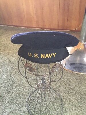 Vintage original WW ll US NAVY WOOL SAILORS CRACKER JACK FLAT HAT