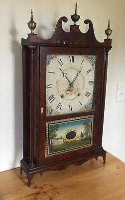 Seth Thomas Pillar And Scroll Wood Works Movement Rare Label