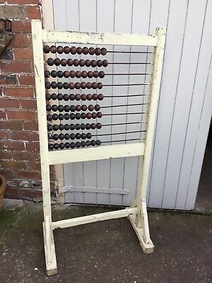 Vintage Antique School Abacus - Floor Standing, Large, Retro, Toy, Furniture