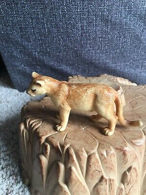 Schleich #14164 Puma cougar mountain lion 1999 Retired Rare collector treasure