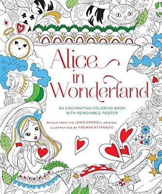 Coloring Book For Adults Alice In Wonderland Illustration Pages Anti Stress Fun