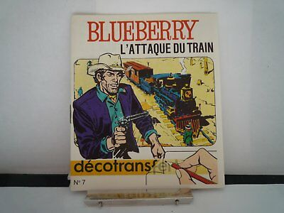 Ancien Decotransfert 1971 Blueberry