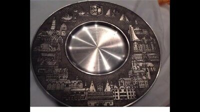 """Vintage """"60yr Old"""" German Pewter Plate/wall Hanger""""Very Collectible""""RARE"""