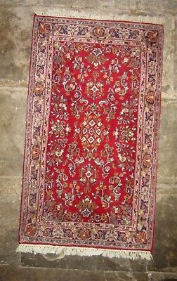 Persian Tabriz Vintage Hand Knotted Wool Rug Carpet 160 cm x 95 cm