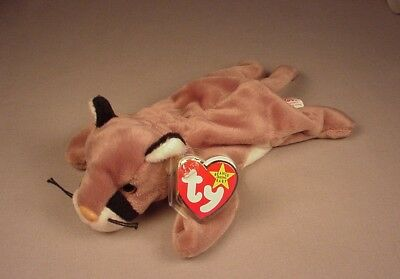 Ty Beanie Baby Babies Canyon Cougar Mountain Lion Mint with Tags MWT NWT 1998