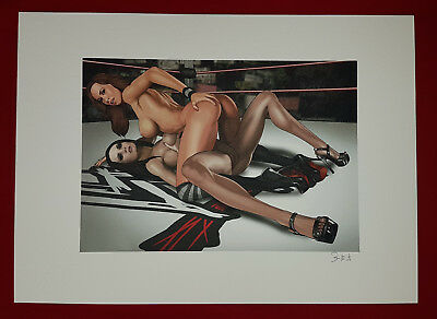 Erotik in The Ring Nude comic Sexy fine art Collection Erotic Drawing Signed