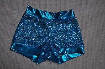 Nwt Bal Togs Adult size Small performance teal peacock  Dance Booty Shorts