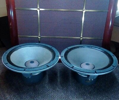 2 Early 1953 Altec 515 20ohm Woofers w/515 C Step Frames, IPC Badges, Front load