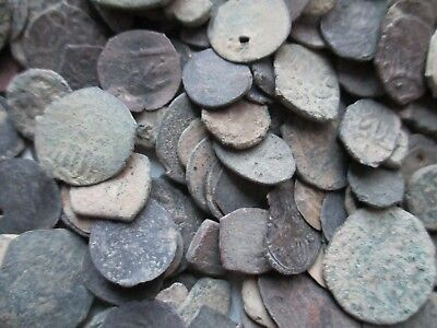 Lot of 45 Ancient Unidentified Uncleaned Coins Islamic/Arabic
