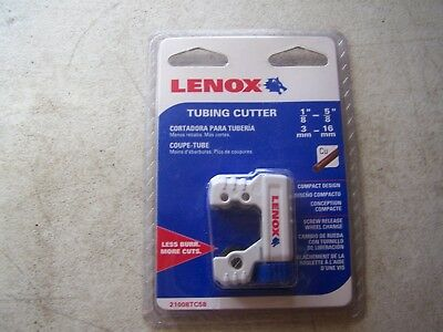 "Lenox 21008TC58 Tubing Cutter 1/8"" to 5/8"" For Copper , Brass , Aluminum Tubing"