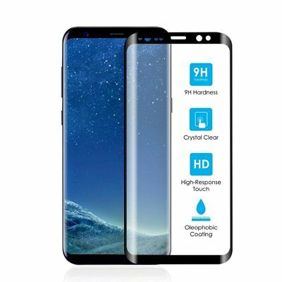 Full Curved Tempered S9 Glass Galaxy 3D Touch Screen Screen Protector Black