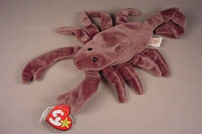 Ty Beanie Baby Babies Stinger the Scorpion Mint with Tags MWT NWT 1998 retired